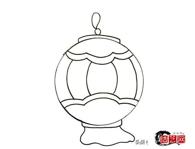 每天学一幅简笔画--中国传统灯笼简笔画,漂亮又简单的灯笼画法