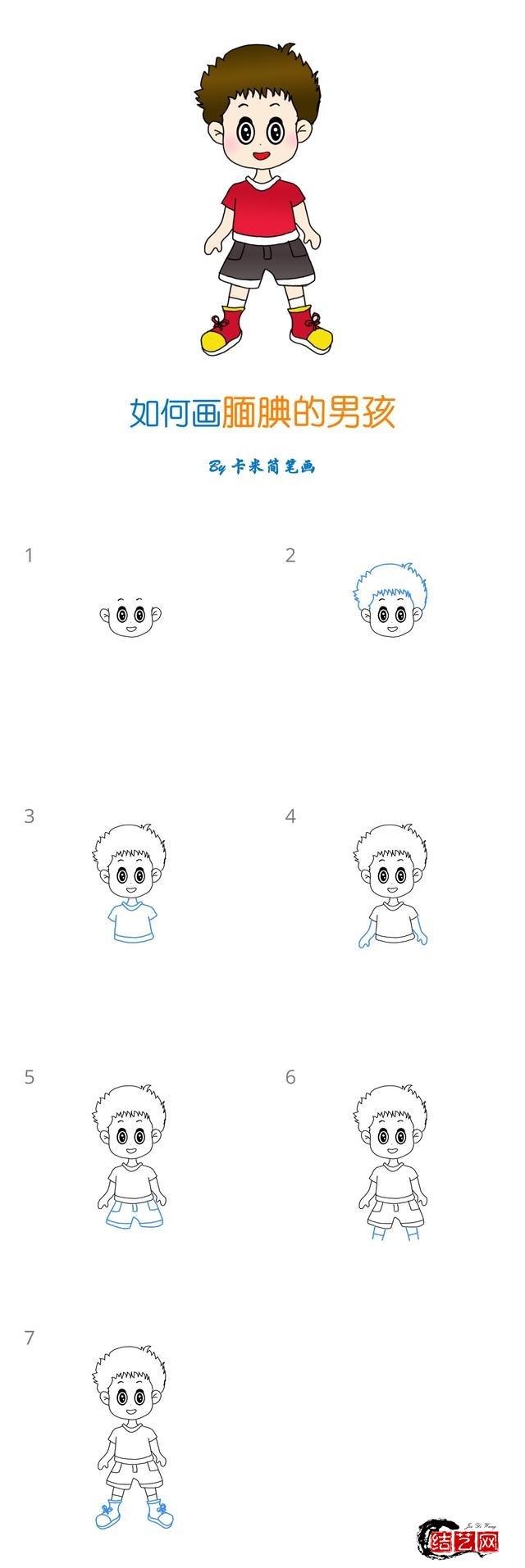 儿童节简笔画 - 十组儿童人物简笔画
