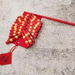 春节简单手工挂饰制作,鞭炮爆竹装饰的做法教程