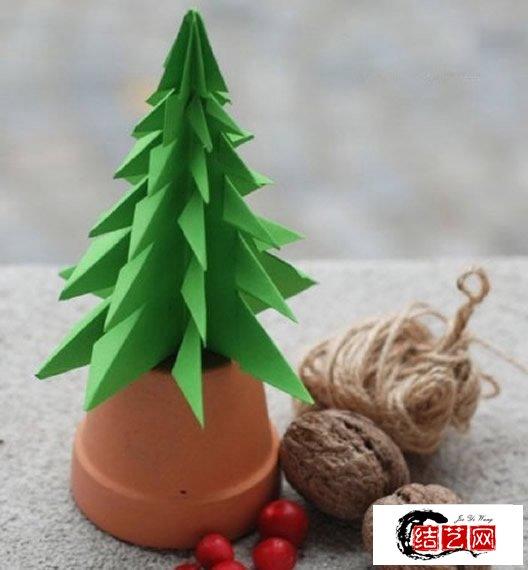 立体圣诞树怎么做 立体圣诞树折纸制作图解