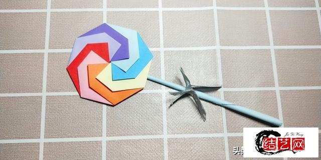 这是我见过最简单的棒棒糖折纸,漂亮又好玩,快来试试
