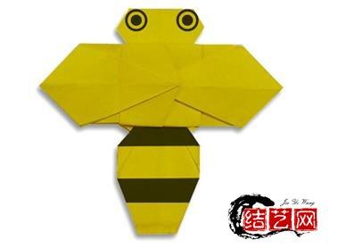 儿童手工折纸蜜蜂的折纸图解教程【手工制作大全】