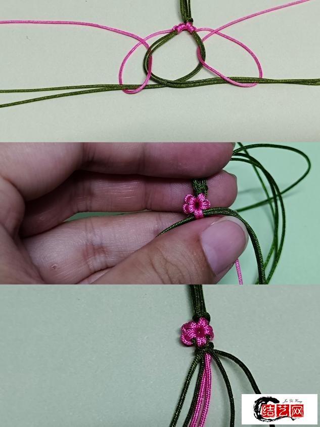 72号玉线,桃花手链,夏天清新绳子结艺