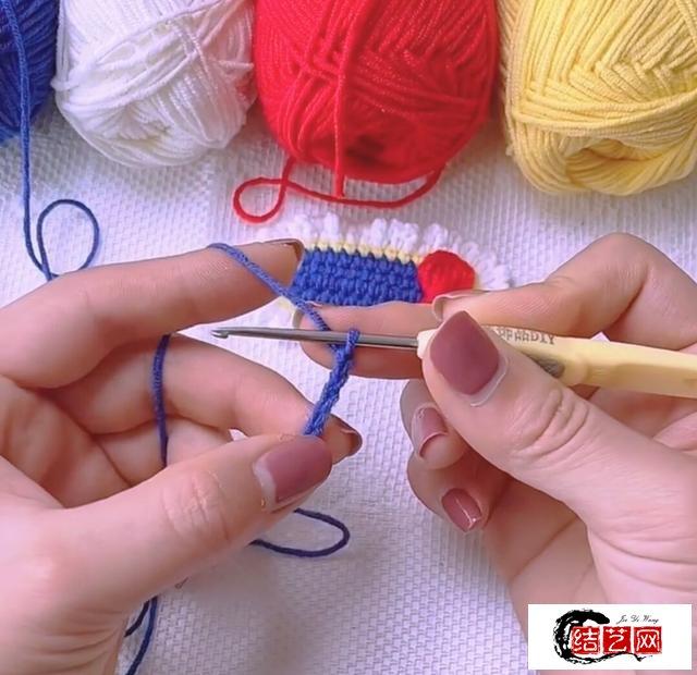 毛线编织漂亮的花边蝴蝶结发夹头饰花,查看详细图文教程