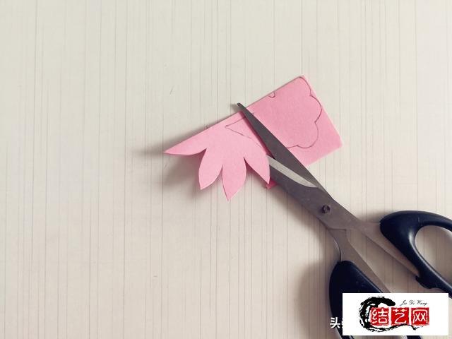 幼儿园手工,剪纸荷花教程,简单易学