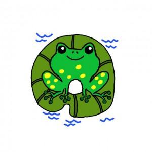 青蛙简笔画教程,简单可爱彩色画法步骤