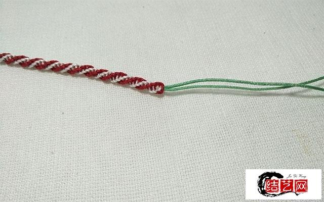 木子手工:螺旋平结红绳手链教程,速来围观