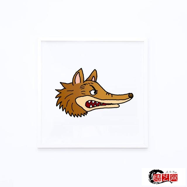 如何画狼头简笔画