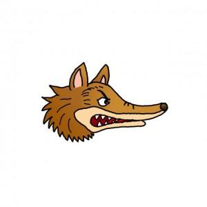 狼头简笔画画法教程,卡通简单可爱又霸气的形象