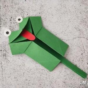 青蛙折纸步骤图解,一步一步教你会动的青蛙简单制作方法
