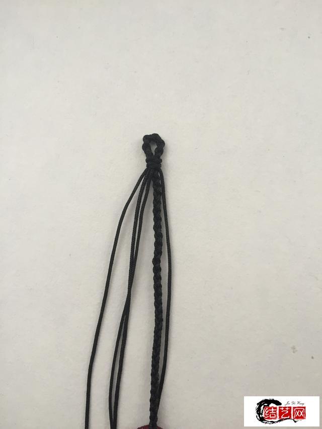 「编绳」幸福圆满 绕线精编四股辫手绳
