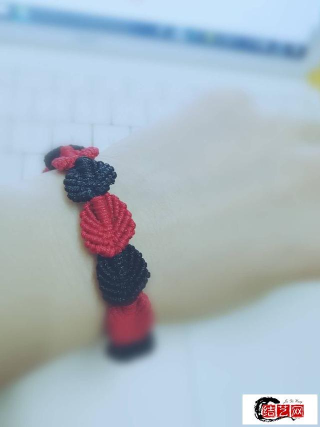 手工编织叶子手链教程