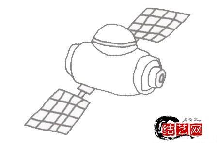 每天学一幅简笔画--卫星简笔画的简单画法步骤教程