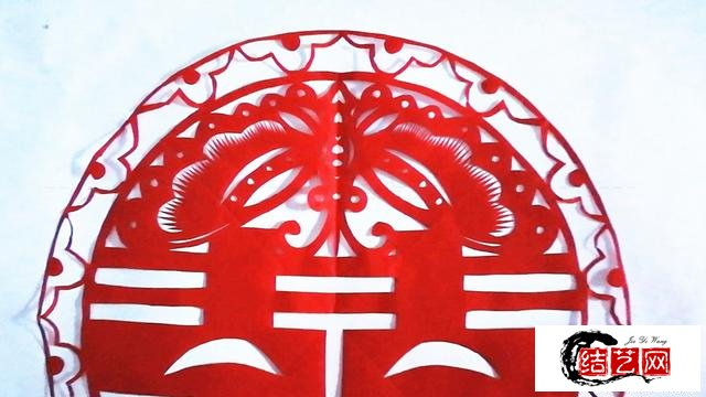 蝴蝶双喜剪纸作品,超详细的图片折剪步骤,来看看这是怎么剪的