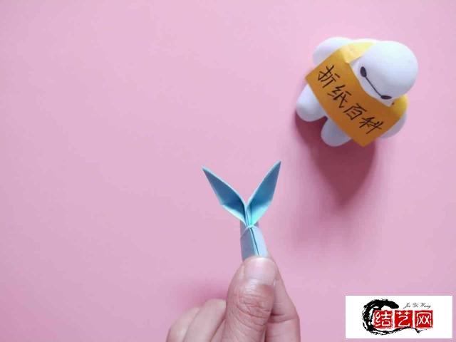 教你折纸可爱的小兔子笔套,步骤简单一学就会,手工折纸图解教程